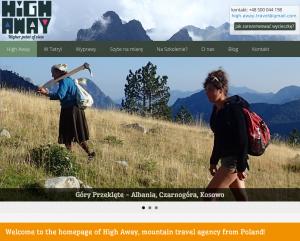 Zrzut ekranowy strony High Away